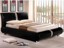 Paquet Lit Slide Black + Matelas Viscolatex Amour