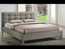 Lit tapissé gris Lido